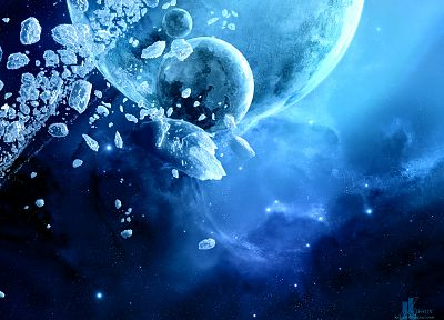 ice, outer space, planets, Moon, JoeJesus, Josef Barton - related desktop wallpaper