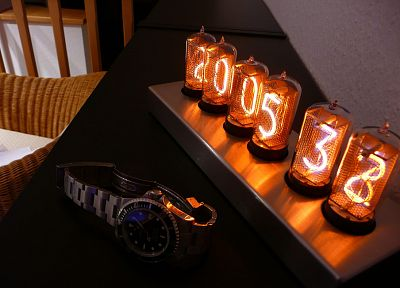 clocks, nixie, watches - random desktop wallpaper