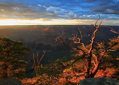 light, point, rim, Arizona, Grand Canyon, National Park - related desktop wallpaper