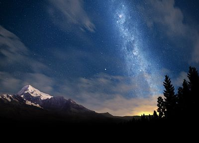 mountains, nature, Milky Way, skyscapes - desktop wallpaper