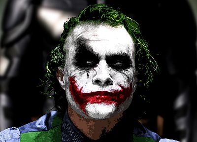 Batman, The Joker, Heath Ledger - random desktop wallpaper