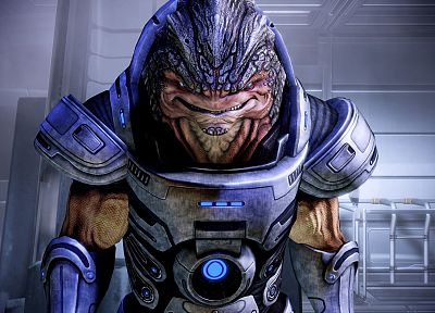 video games, wall, grunt, Mass Effect 2 - duplicate desktop wallpaper