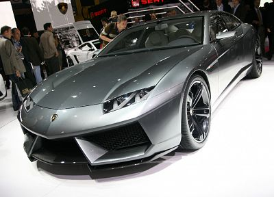 white, cars, gray, Lamborghini, vehicles, concept cars, Lamborghini Estoque, carshow, italian cars - desktop wallpaper