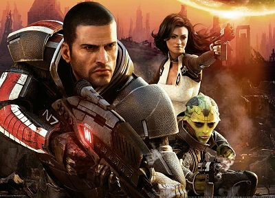 video games, Mass Effect, artwork, 3D, Commander Shepard - related desktop wallpaper