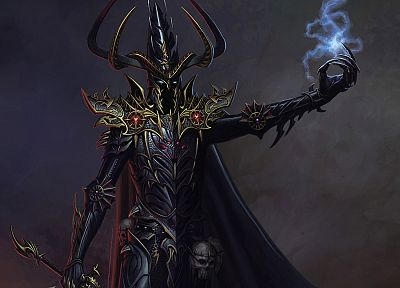 video games, Warhammer, fantasy art, armor, artwork, dark elves, malekith - desktop wallpaper