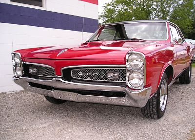 cars, vehicles, red cars, Pontiac GTO - related desktop wallpaper