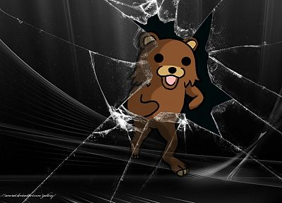 Pedobear, broken screen, Microsoft Windows - random desktop wallpaper