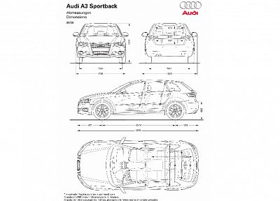 blueprints, Audi A3 - random desktop wallpaper