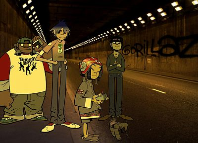music, Gorillaz, Murdoc, Noodle (Gorillaz), Russel Hobbs - related desktop wallpaper