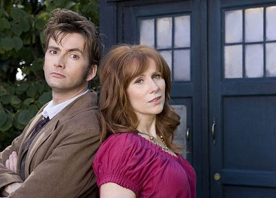 TARDIS, David Tennant, Doctor Who, Catherine Tate, Donna Noble, Tenth Doctor - related desktop wallpaper
