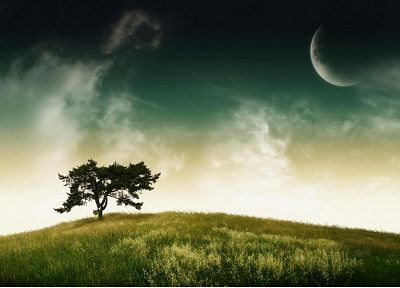 landscapes, nature, Moon, photo manipulation, The Legend of Zelda: Majoras Mask, Majora - related desktop wallpaper