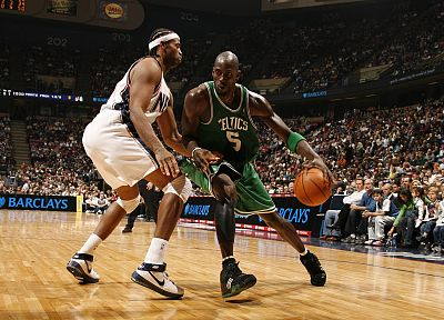 sports, NBA, basketball, Kevin Garnett, Boston Celtics, New Jersey Nets - random desktop wallpaper