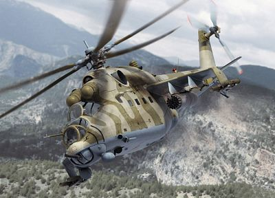 aircraft, helicopters, hind, vehicles, 3D renders, Mi-24, Mi-24 Hind - related desktop wallpaper