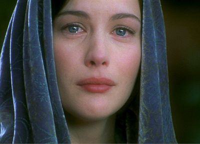women, movies, Liv Tyler, The Lord of the Rings, sadness, Arwen Undomiel, The Return of the King - desktop wallpaper