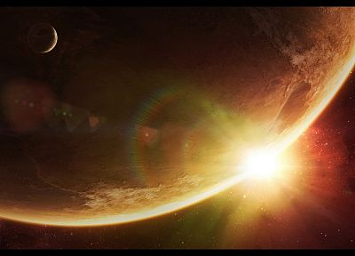 outer space, planets, artwork - random desktop wallpaper