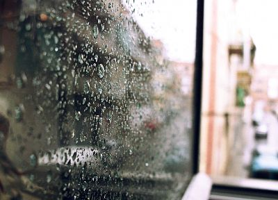 cars, balcony, bokeh, water drops, rain on glass - random desktop wallpaper