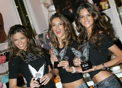 women, Adriana Lima, Alessandra Ambrosio, Victorias Secret, Izabel Goulart - related desktop wallpaper