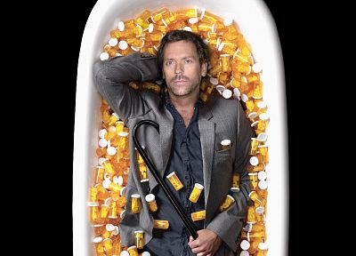 doctor, vicodin, Hugh Laurie, pills, Gregory House, House M.D. - random desktop wallpaper