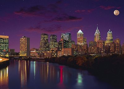 cityscapes, Pennsylvania, Philadelphia, evening - random desktop wallpaper