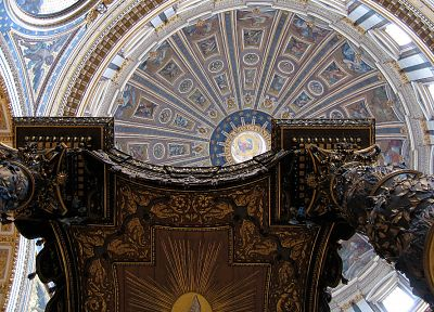 architecture, buildings, vatican city, dome, st peter's basilica, ceiling - related desktop wallpaper