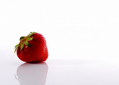 fruits, food, strawberries, simple background, white background - related desktop wallpaper