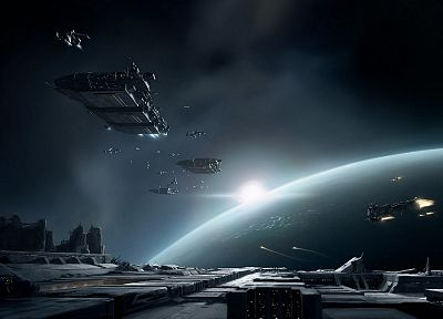 video games, outer space, EVE Online, spaceships, artwork, vehicles - related desktop wallpaper