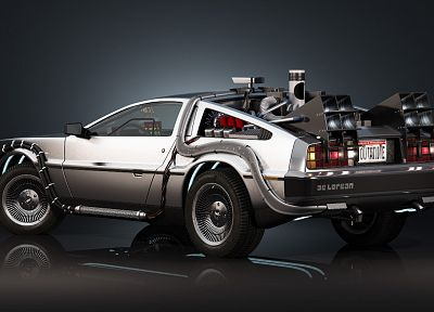 cars, Back to the Future, DeLorean DMC-12 - random desktop wallpaper