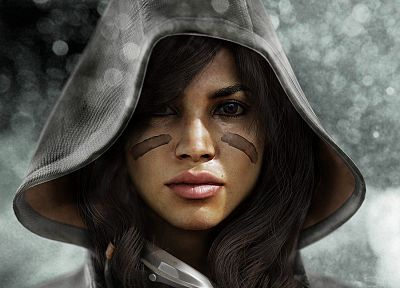 brunettes, women, video games, Killzone - random desktop wallpaper