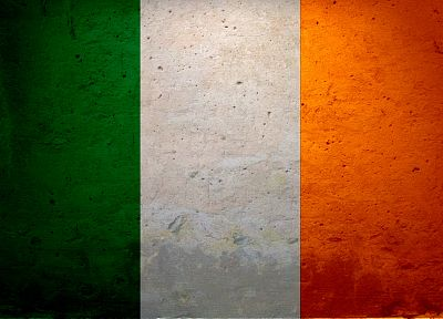 Ireland, flags, textures, concrete - desktop wallpaper