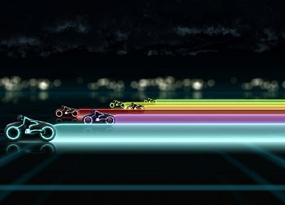 rainbows, Tron Legacy - related desktop wallpaper