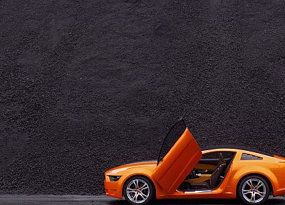 cars, Ford, vehicles, Ford Mustang, side view, Ford Mustang Giugiaro - random desktop wallpaper