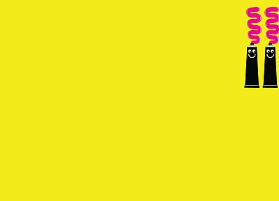 Tube, yellow background - desktop wallpaper
