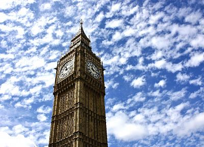 clouds, architecture, London, Big Ben - desktop wallpaper