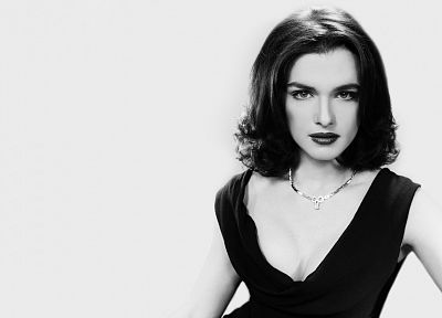 Rachel Weisz, grayscale, monochrome - related desktop wallpaper