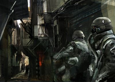 soldiers, video games, artwork, Killzone 2 - random desktop wallpaper
