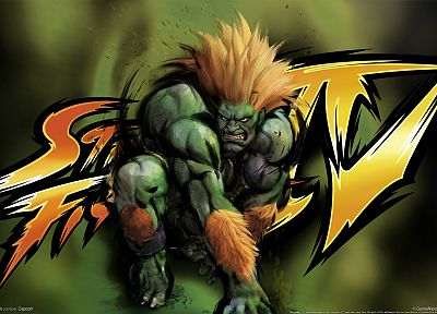 video games, Street Fighter, Street Fighter IV, Blanka, 3D - related desktop wallpaper