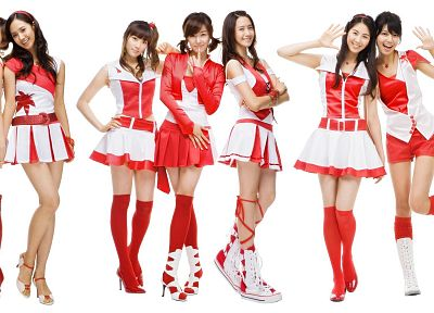women, cosplay, Girls Generation SNSD, skirts, celebrity, high heels, Asians, Seohyun, Korean, singers, Jessica Jung, Kim Taeyeon, Kwon Yuri, Im YoonA, Choi Sooyoung, K-Pop, Tiffany Hwang, bangs - related desktop wallpaper
