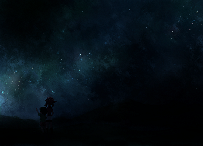 cartoons, dark, stars, artwork, skyscapes - random desktop wallpaper