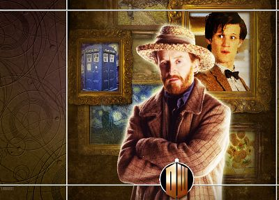 Matt Smith, Vincent Van Gogh, Eleventh Doctor, Doctor Who - random desktop wallpaper