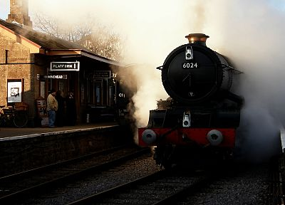 trains, train stations, vehicles, steam locomotives, West Somerset Railway - desktop wallpaper