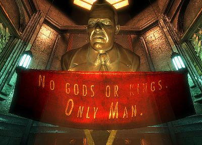 video games, BioShock, slogan - related desktop wallpaper