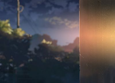 Makoto Shinkai, 5 Centimeters Per Second, blurred - random desktop wallpaper