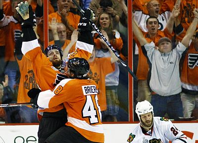 hockey, NHL, Philadelphia Flyers, icehockey, Danny Briere - random desktop wallpaper