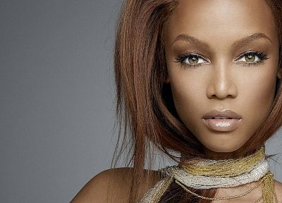 women, Tyra Banks, faces - random desktop wallpaper