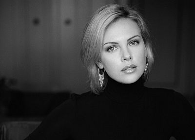 women, Charlize Theron, sweaters - random desktop wallpaper