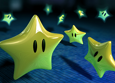 video games, stars, Super Mario Bros. - related desktop wallpaper