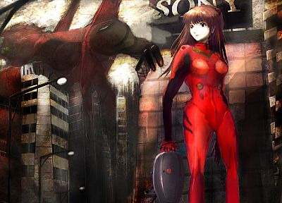 Neon Genesis Evangelion, Asuka Langley Soryu, artwork, anime girls - desktop wallpaper