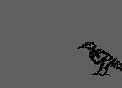 black, Edgar Allan Poe, simple background, ravens - desktop wallpaper