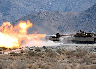army, fire, deserts, m1a1, Abrams, tanks, armor, range - related desktop wallpaper