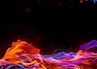 fire, rainbows, TagNotAllowedTooSubjective, black background, colors, color spectrum - random desktop wallpaper